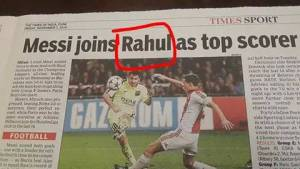 Messi equals RAHUL